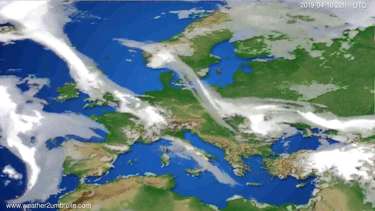Cloud forecast Europe // modelrun: 00h UTC 2019-04-14