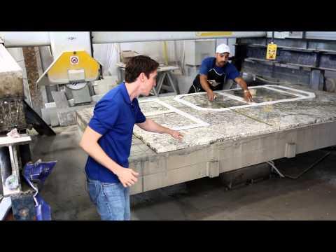 Fox Granite Fabrication Process | Template Layout