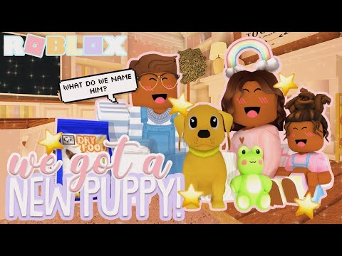 We ADOPTED A DOG! *OUR KIDS ARE SO HAPPY* Roblox Bloxburg Roleplay