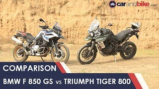 4. BMW F 850 GS vs Triumph Tiger 800 XCx Comparison Review | NDTV carandbike