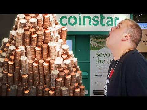 Cashing In 100 POUNDS OF COINS In COINSTAR! Cashing In Coins At Coinstar