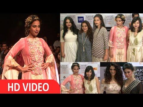 Swara Bhaskar Walks Ramp For Designer Whimsical At LFW 2016