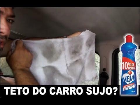 Limpar o teto do carro