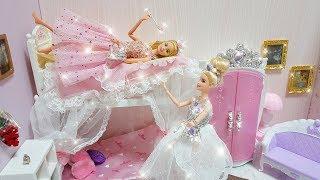 Download Video Twin Barbie Bunk Bed Morning Routine Dress up Gaun boneka Barbie Vestido de boneca MP3 3GP MP4