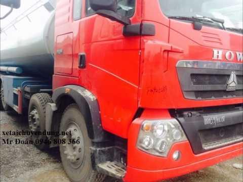 Bán xe chở xăng dầu 26 khối howo T5G
