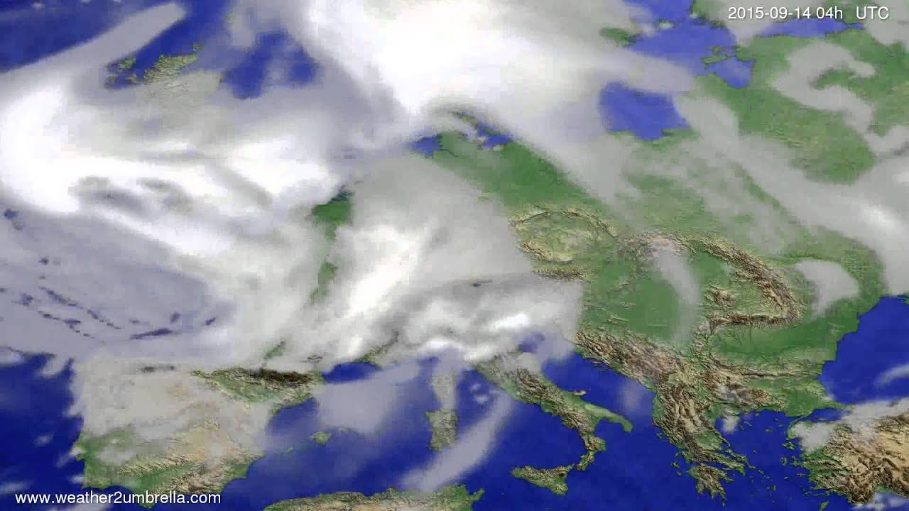 Cloud forecast Europe 2015-09-11