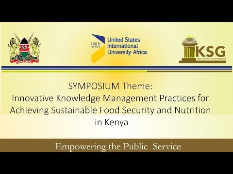 Innovative Knowledge Management Practices for Achieving Sustainable Food Security and Nutrition in Kenya