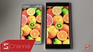 Schannel - Galaxy Note 3 vs Xperia Z Ultra : Thiết kế, màn hình, camera...- CellphoneS