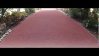 חידוש אבנים משתלבות - צבע צביעת אבנים משתלבות. בטון בטון קולור. - YouTube