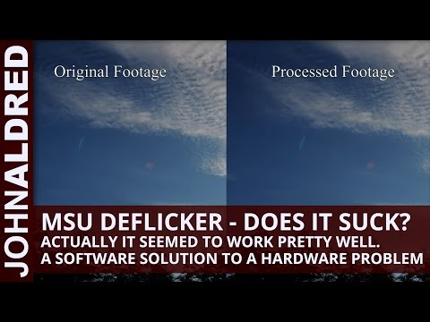 deflicker - This is a quick test video to demonstrate the MSU Deflicker plugin for VirtualDub as a means to reduce or eliminate flicker in timelapse footage. Shot as a J...
