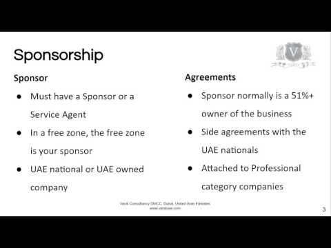 LLC Company Formation Dubai   A Sponsor Is Required By Law