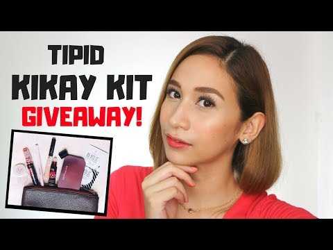 TIPID EVERYDAY MAKEUP KIT GIVEAWAY | Student Budget Kikay Kit | Lolly Isabel (видео)