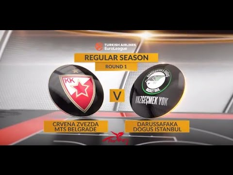 EuroLeague Highlights RS Round 1: Crvena Zvezda mts Belgrade 70-73 Darussafaka Dogus Istanbul