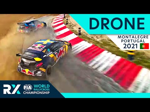 Drone Special : FPV Drone chasing Rallycross Cars at Cooper Tires World RX of Montalegre 2021