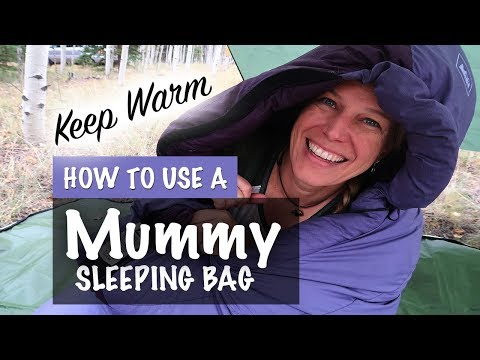 How to correctly get in a mummy bag- Sleeping Bag Instructions - Season 2 -Ep#87