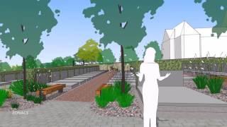 Návrh nového hřbitova v Hnojníku na farní louce