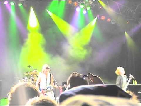 Saturday Night Live Sweden - Def Leppard playing High 'n' Dry (Saturday Night) live at the Sweden Rock Festival in 2006.