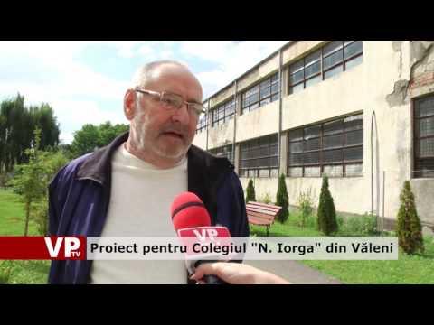 """Proiect pentru Colegiul """"N. Iorga"""" din Văleni"""