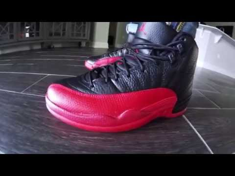 Air Jordan 12 Retro Flu Game Black/Red Review with On Feet