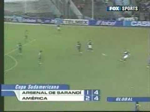 Arsenal de Sarandi ante América (Final Sudamericana 2007)