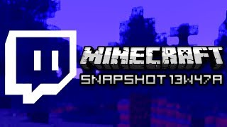 Minecraft: Built in Live Streaming and New Music! (Snapshot 13w47a)