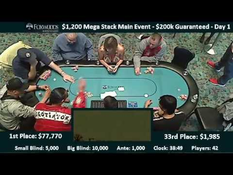 $1,200 Mega Stack - Day 2 (part 1)_Legjobb pker videk