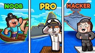 Build to Survive PIRATE WARS! (Noob vs Pro vs Hacker)