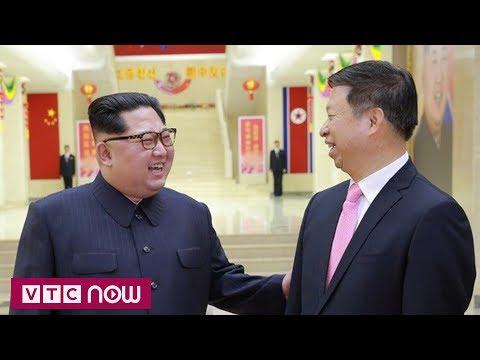 Ông Kim tươi cười đón quan chức Trung Quốc | VTC1 - Thời lượng: 39 giây.