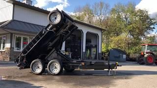 5. Ironbull 5x10' Hydraulic Dump trailer 7000# GVW DTB6010032
