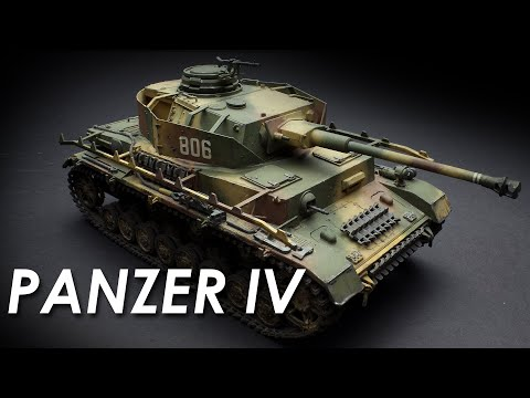 Painting the Tamiya Panzer IV Model Timelapse