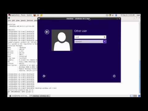 Taking Remote Destop of a Windows Machine from Redhat Linux 6 Server
