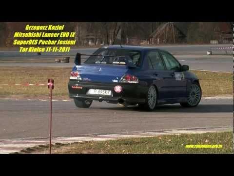 Grzegorz Kozioł Mitsubishi Lancer EVO IX - SuperOES Puchar Jesieni Tor Kielce 11-11-2011