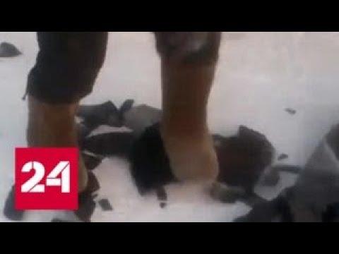 На Ямале от мороза колеса ломаются как сухари - Россия 24 - DomaVideo.Ru