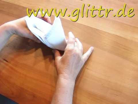 Servietten falten Schnabel - Auch als Tischdekoration