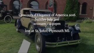 Plymouth (MI) United States  city pictures gallery : Concours d'Elegance of America 2016 - Saturday July 30th