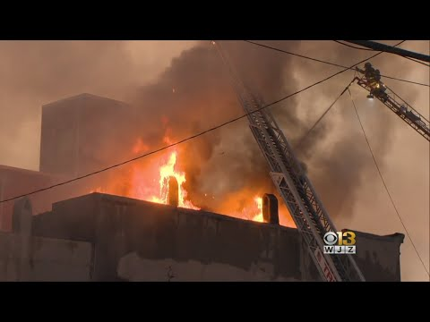 4 Alarm Fire At Business In Fells Point