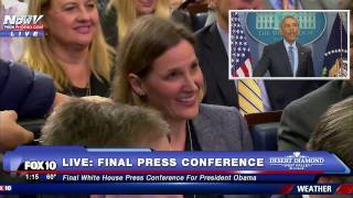 WOW: Reporter Asks Obama a PERSONAL Question to Wrap Up His FINAL Press Conference as President