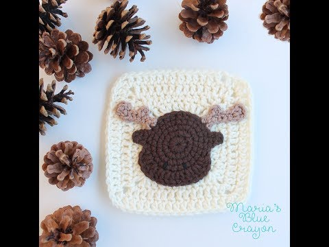 Woodland Moose Applique Crochet Tutorial