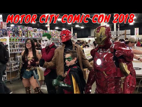 Red Hood and Robin Go To Motor City Comic Con!