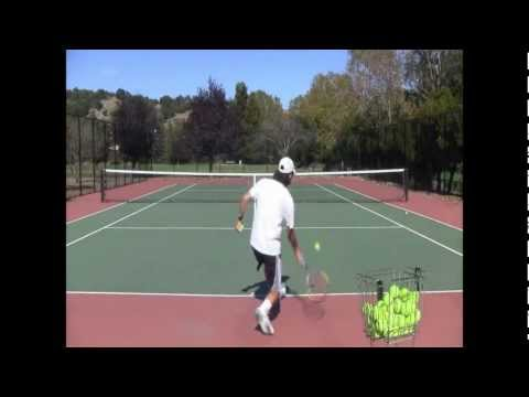 Tennis Training: Ground Strokes Practice!