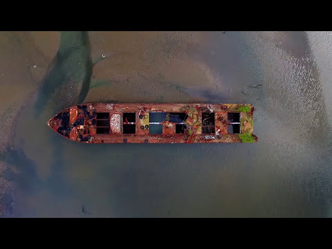 Hauntingly Beautiful Drone Footage of a Boat