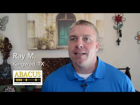 Abacus Plumbing Review – Ray M. – Kingwood, TX