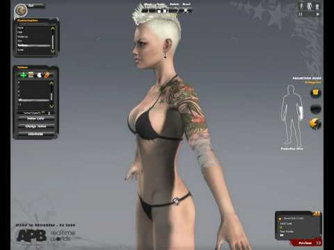 character creation - This is a great gameplay of character customizations in APB actually only PC in Q2, 2011. The MMO-shooter in the second half is started from 2011. Until then...