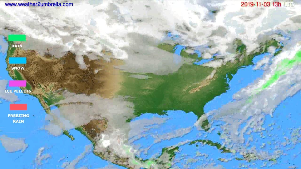Precipitation forecast USA & Canada // modelrun: 00h UTC 2019-11-02