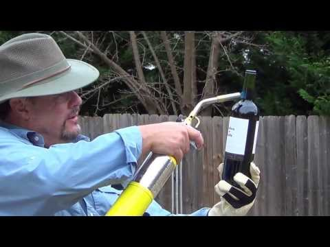 Opening wine with a BLOW TORCH