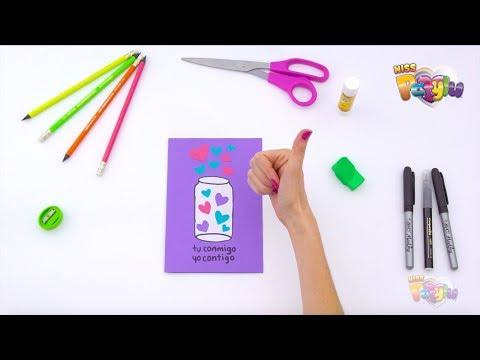 Tarjetas de amor - Miss Patylu -  Aprende a hacer una tarjeta llena de corazones y un sobre