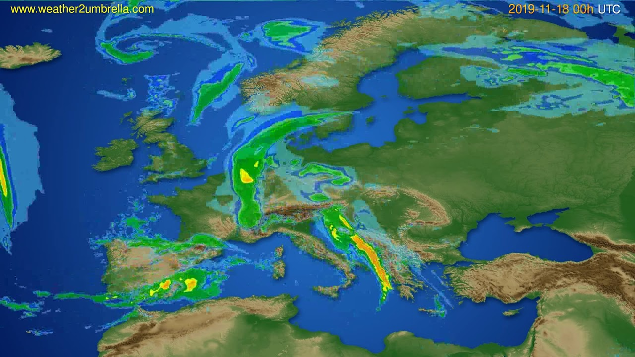 Radar forecast Europe // modelrun: 12h UTC 2019-11-17