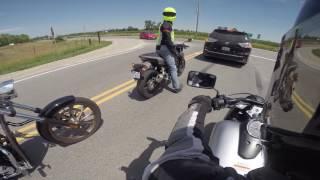 8. Demo riding a Honda Shadow Phantom