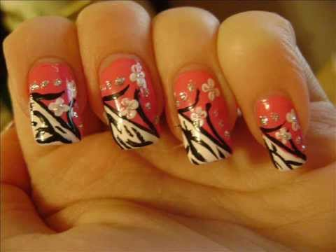 Pink zebra - My Entry #2 to Linda165's First Nail Art ContestGiveaway