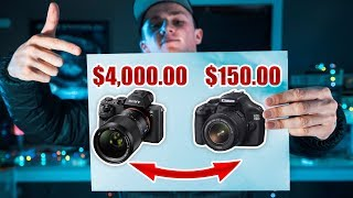 Video $4,000 vs $150 Camera Swap Challenge! MP3, 3GP, MP4, WEBM, AVI, FLV Juli 2018